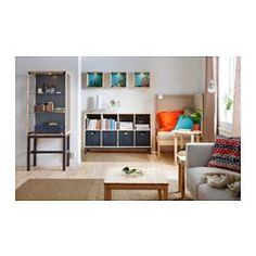 IKEA - NORNÄS, Vitrine murale, pin gris/bleu, , Le pin massif non traité est un matériau naturel et durable qui peut être peint, huilé ou laqué à votre guise.Portes vitrées pour ranger vos objets à l'abri de la poussière, mais toujours visibles.