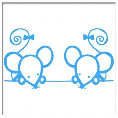 Muursticker Twee muisjes