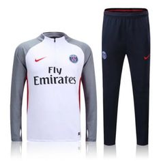 Chándal PSG 2016-2017 Gris Blanco - Camisetas de Futbol Baratas 75a4651fc62f8
