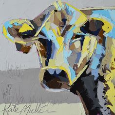 """""""Laura"""" Cow Oil Painting by Kate Mullin. www.katemullinart.com"""