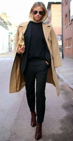 Como combinar un abrigo hueso