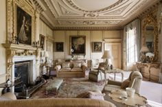 The South Drawing Room at Wimpole Hall in Cambridgeshire, England