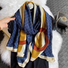 How To Wear Pashmina, Pashmina Scarf, Plaid Scarf, Cotton Scarf, Cashmere Scarf, Poncho Shawl, Fashion Prints, Style Fashion, Large Women