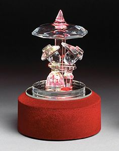 6c0e068584fb Crystal Music Box for Valentine s Day By Banberry Designs - Revolving LED  Musical Base Displays a
