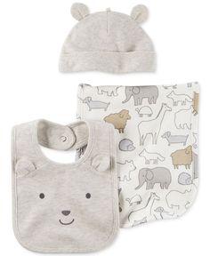 Carter's 3-Pc. Hat, Bib, & Burp Cloth Set, Baby Boys & Girls (0-24 months)