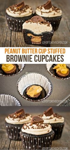 Secret Obsession Peanut Butter Cup Stuffed Brownie Cupcakes His Secret Obsession.Earn Commissions On Front And Backend Sales Promoting His Secret Obsession - The Highest Converting Offer In It's Class That is Taking The Women's Market By Storm Brownie Cupcakes, Yummy Cupcakes, Cupcake Cakes, Food Cakes, Reeses Peanut Butter Cupcakes, Coconut Cupcakes, Cupcake Ideas, Chocolate Cupcakes, Reeces Cupcakes