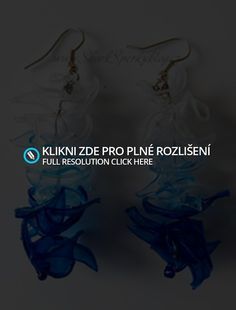 Náušnice - Lexy - Modrá Trikolora   Shark Šperky z Eko Plastu