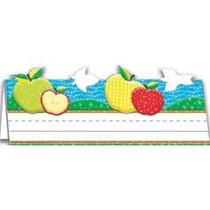 Each shrinkwrapped pack contains 36 tented name plates if cut in half). Each tented name plate measures 9 x 6 September Bulletin Boards, Teaching Materials, Tent, Kids Rugs, Apple, World, Color, Home Decor, Products