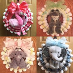 Baby Shower Gifts Custom Designed Diaper Wreath by StayInspiredDesigns on Etsy Bricolage Baby Shower, Cadeau Baby Shower, Baby Shower Crafts, Baby Shower Fun, Baby Shower Themes, Shower Ideas, Cute Baby Shower Gifts, Baby Showers, Diy Diapers