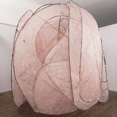 free open-closed space • Kozo paper installations by LORI GOODMAN