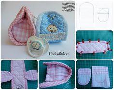 Come fare un portaciuccio in stoffa (cucito per bambini) #tutorial #sewing