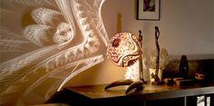 Calabarte 透かし彫りの電気スタンド
