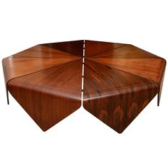"""""""Petal"""" coffee table was designed by the master Brazilian architect Jorge Zalszupin in the 1960's."""