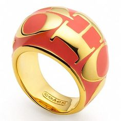 Coach Coach Woodmark Domed Ring