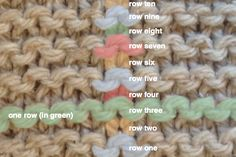 Counting Rows: In Stockinette, Garter, and Reverse Stockinette, from @Berroco Yarn