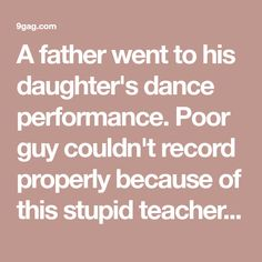 A father went to his daughter's dance performance. Poor guy couldn't record properly because of this stupid teacher dancing in the middle. Building A Deck, Building Ideas, Best Funny Pictures, Stupid, Dancing, Father, Middle, Daughter, Guys
