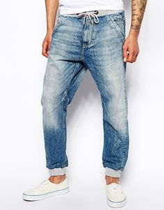 2Y Men Slim Fit Cargo Denim Jogger Jeans - Blue | Jean joggers ...