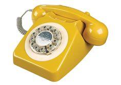 Téléphone Fixe rétro 746 jaune moutarde - 63€ - Les Esthètes