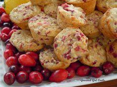 Almond Flour Cranberry Lemon Macaroon Muffins.