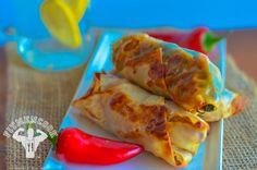 Spicy Turkey & Spinach Egg Rolls (Video)   Fit Men Cook