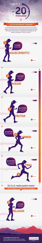 Perca peso colocando o relógio na frente da balança. Confira o infográfico que preparamos para te contar sobre o L.I.T.: Lucilia Intensive Training. #dieta #emagrecer #detox #diet