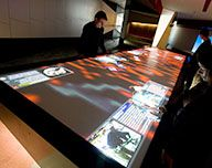 #interactive #multitouch table display screen. #TouchMagix