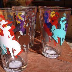 www.madejacksonhole.com     Wyoming Cowboy pint glasses