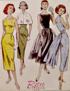 Butterick B5032 Pattern Retro 1952 Misses by VintageNeedleFinds, $10.00