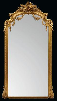 A Belle Epoque giltwood and gilt gesso pier mirror fourth quarter century European Furniture, Classic Furniture, Antique Furniture, French Mirror, Baroque Mirror, Belle Epoque, Vintage Mirrors, Art Decor, Decoration