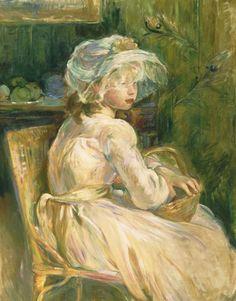 Berthe Morisot (French, 1841 - 1895): Young Girl with Basket (1892) (via Philadelphia Museum of Art)