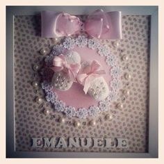 Baby Picture Frames, Baby Frame, Crafts For Girls, Diy For Girls, Diy Home Crafts, Arts And Crafts, Diy Souvenirs, Nursery Crafts, Baby Shower Items