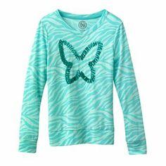 SO Butterfly Sequin Zebra Tee - Girls 7-16 11.99