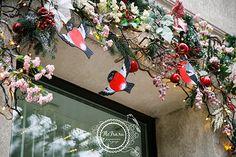 новогоднее украшение витрины декор витрина Кузбасс Кемерово оформление…