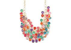 Barevný náhrdelník OJJU Cristallina Jewelry, Jewlery, Jewerly, Schmuck, Jewels, Jewelery, Fine Jewelry, Jewel, Jewelry Accessories
