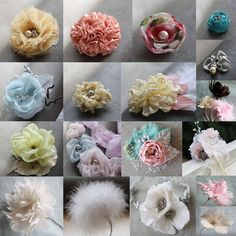 Feather and Fabric Flowers Pattern Tutorials (All 27 Tutorials) DIY Wedding Accessories  (Instant Download) via Etsy