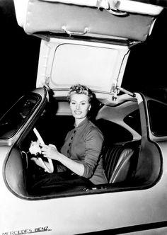 Sophia Loren, Late 1950's. In mercedes 300sl