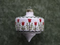 hand painted vintage ornaments