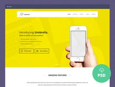 Umbrella is a pixel perfect, clean and multipurpose landing page PSD template for your next product or service.