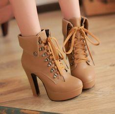 Fashion cute heels martin boots · Fashion Kawaii [Japan & Korea ...