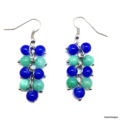 A personal favorite from my Etsy shop https://www.etsy.com/listing/240899516/blue-and-turquoise-glass-beaded-cluster
