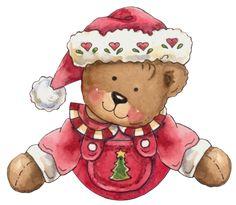 holidays Christmas Clipart, Noel Christmas, Vintage Christmas, Teddy Bear, Clip Art, Holiday Ideas, Animals, Holidays, Xmas