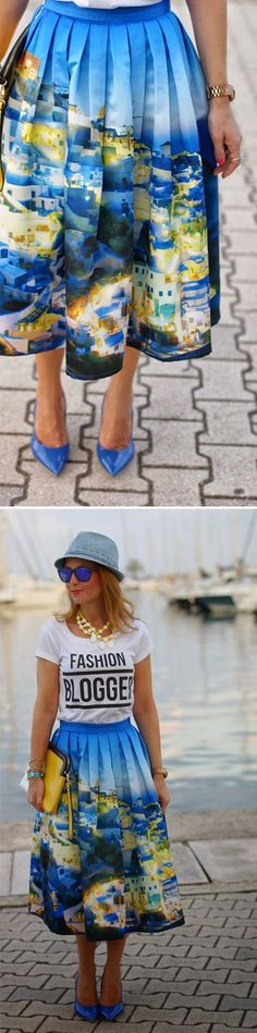 Cute Santorini Skirt