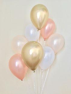 Rose Gold Peach Chrome Gold & Pearl White Latex Balloons~Wedding~Bridal Shower~First Birthday~Fall Balloons~Bachelorette~Rose Gold Balloons - Birthday Month Rose Gold Balloons, White Balloons, Wedding Balloons, Latex Balloons, Birthday Balloons, Birthday Cake Roses, White Birthday Cakes, Golden Birthday, Girl First Birthday