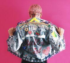 fumbalinas - FEMME ' Bullet Girl' collaboration #bulletgirl #femme #fashionista #denim #jacket #bling #customised #kawaii #80s #madonna #desperatelyseekingsusan