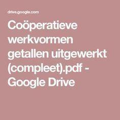 Coöperatieve werkvormen getallen uitgewerkt (compleet).pdf - Google Drive