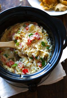 Skinny Crab and Artichoke Dip - just 75 calories for this creamy, delicious appetizer!