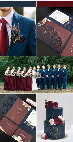 Wedding Color Schemes Discover Navy and Burgundy Wedding Invitations with Laser Cut Pockets-Free RSVP Cards Fall Wedding Colors, Wedding Color Schemes, Fall Wedding Themes, Wedding Colora, September Wedding Colors, Wedding Flowers, Wedding Decorations, Wedding Theme Ideas Unique, Wedding Dresses