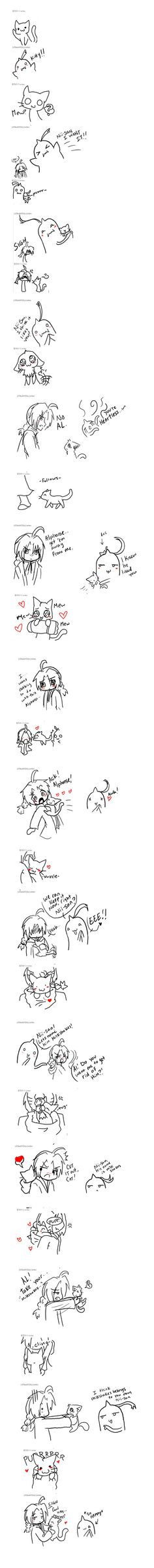 How Al got Edward to keep it.. by Digiko.deviantart.com on @DeviantArt << Omg this is so cuuuuttte