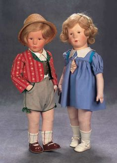 The Great Man's Doll: 333 German Character Boy by Kathe Kruse in Tyrolean Costume
