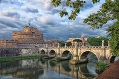 Rome, Italy. Sant'Angelo Castle with the Ponte Sant'Angelo